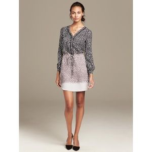 BANANA REPUBLIC Women 12 Gray Giraffe Print Dress